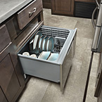 Stainless steel dishwasher is optional