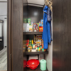 Walk in pantry in select models - no reason to go hungry, Glamping at its best! May Show Optional Features. Features and Options Subject to Change Without Notice.