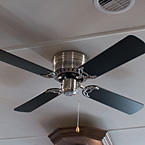 Contemporary ceiling fan May Show Optional Features. Features and Options Subject to Change Without Notice.