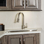 Designer sink faucet with pull-out