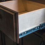 Real wood drawers on soft close, full