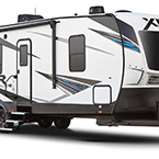XLR Hyper Lite Travel Trailer Toy Haulers Exterior (3/4 Front View) May Show Optional Features. Features and Options Subject to Change Without Notice.