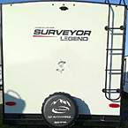 Ladder & Protective Tire Cover ALL Surveyors (Ladder N/A 202RBLE) May Show Optional Features. Features and Options Subject to Change Without Notice.