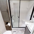 Residential walk-in shower in the 40RLB bathroom May Show Optional Features. Features and Options Subject to Change Without Notice.