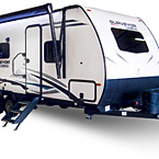 Surveyor Legend Travel Trailer Exterior (Sub 4,000) May Show Optional Features. Features and Options Subject to Change Without Notice.