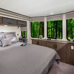 42DL bedroom that feature TONS of storage possibilities, the Serta Mattress, and beautiful panoramic windows May Show Optional Features. Features and Options Subject to Change Without Notice.