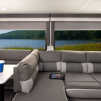 The 42QBQ features the desirable Versa-Lounge and the amazing panoramic windows May Show Optional Features. Features and Options Subject to Change Without Notice.