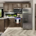 Lodge and Grand Lodge kitchens feature a modern look with stainless steel kitchen appliances May Show Optional Features. Features and Options Subject to Change Without Notice.