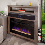 "Lodge and Grand Lodge feature 30"" electric fireplace (heater) and soundbar (this specifically is the 40FDEN) May Show Optional Features. Features and Options Subject to Change Without Notice."