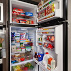Salem kitchen's feature a best in class 11 CU FT Frost Free refrigerator (opened). May Show Optional Features. Features and Options Subject to Change Without Notice.