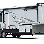 Cedar Creek Champagne Fifth Wheel May Show Optional Features. Features and Options Subject to Change Without Notice.