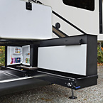 "This party slide is only 20"" wide, and tucks nicely into most fifth wheel front storage