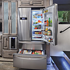 20 Cu. ft. residential stainless steel electric refrigerator with ice-maker and dedicated inverter. May Show Optional Features. Features and Options Subject to Change Without Notice.