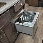 A stainless steel dishwasher is optional on select models. May Show Optional Features. Features and Options Subject to Change Without Notice.