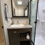 353FLFB sink and modern mirror medicine cabinet May Show Optional Features. Features and Options Subject to Change Without Notice.