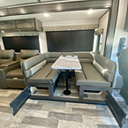 Dinette with Doors Open May Show Optional Features. Features and Options Subject to Change Without Notice.