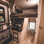 Bunk Beds and Exterior Storage Door May Show Optional Features. Features and Options Subject to Change Without Notice.