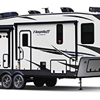 Flagstaff Classic Fifth Wheel Exterior (Optional White Fiberglass) May Show Optional Features. Features and Options Subject to Change Without Notice.