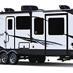Flagstaff Classic Travel Trailer Exterior (Optional White Fiberglass) May Show Optional Features. Features and Options Subject to Change Without Notice.