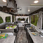Rockwood High Wall Tent Camper Pop-Up Trailer Interior May Show Optional Features. Features and Options Subject to Change Without Notice.