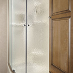 Radius Glass Door Shower (N/A models with tub bases) May Show Optional Features. Features and Options Subject to Change Without Notice.