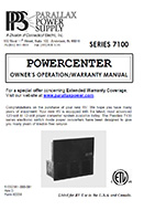 Parallax Power Supply 7100 Series Power Center