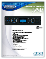 Jensen JWM1A Product Features