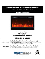 Sideline Series Electric Fireplace Heater