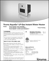 Truma AquaGo® LP Gas Instant Water Heater Manual