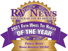 RV News 2021 Fifth Wheel Toy Hauler of the Year - Rogue Armored 351