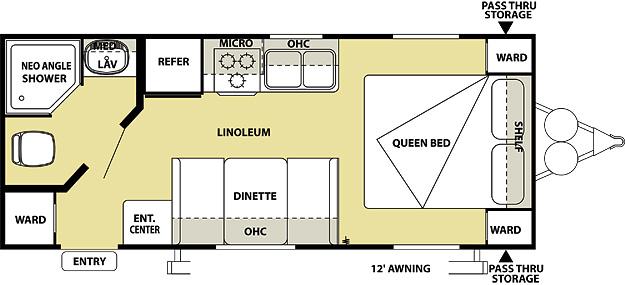 Salem Cruise Lite 221RB Floorplan
