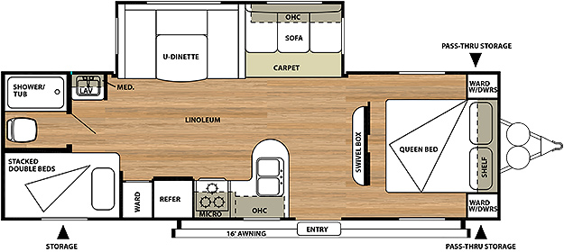 Salem 27DBUD Floorplan