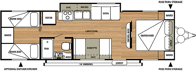 2013 Salem Cruise Lite 281QB Floorplan
