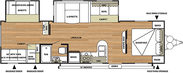 Salem 29QBDS Floorplan