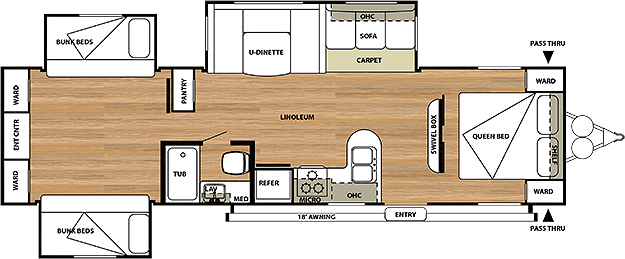 Salem 31QBTS Floorplan